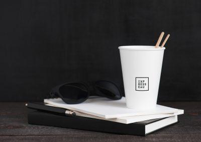 Accompagnement café Expresseau pour boire son café avec gobelet