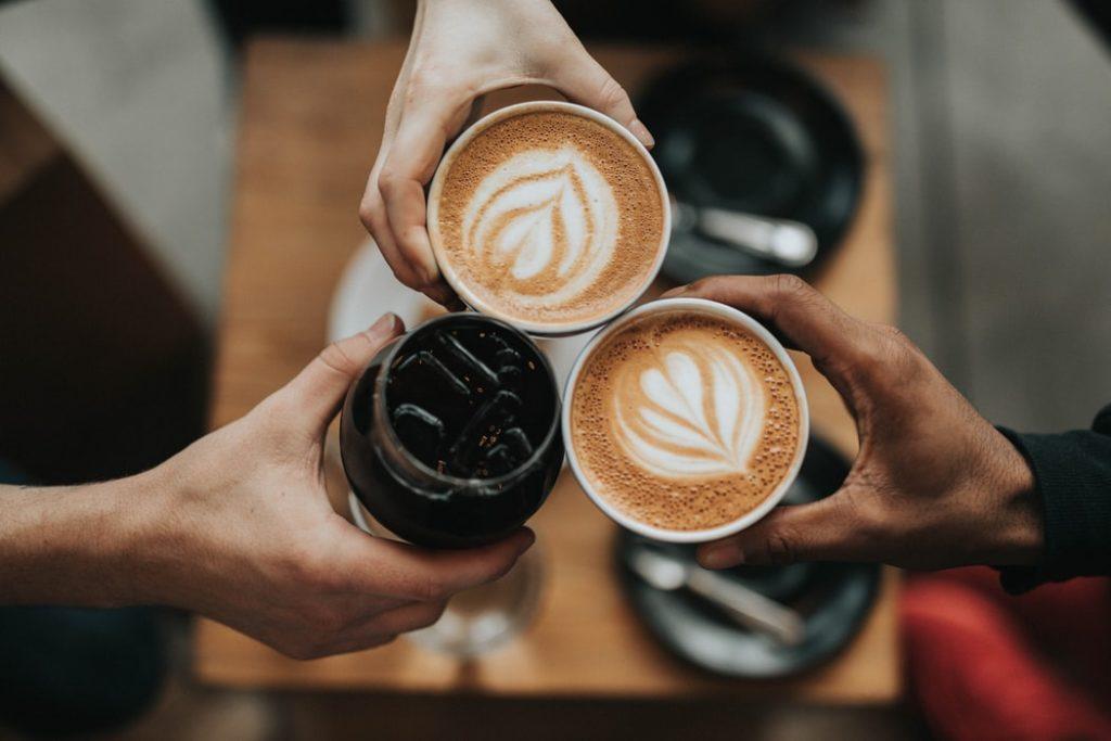 café, collègues, travail, pause, détente