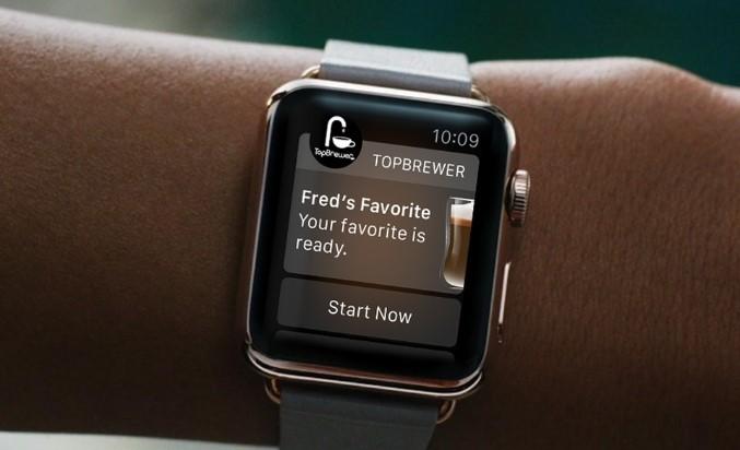 montre, application, connecté, tactile, café, topbrewer