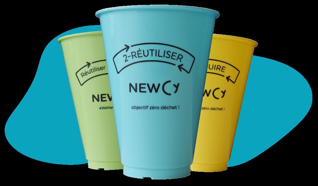 Alternative au gobelet plastique : le gobelet réutilisable NewCy