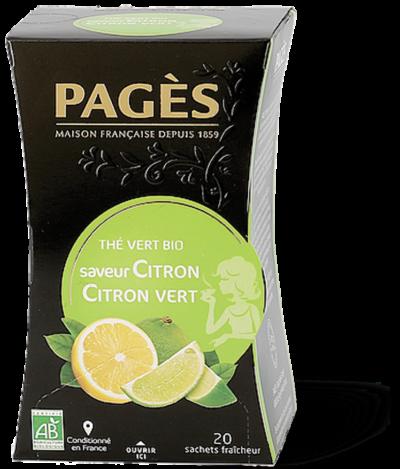 thé vert bio citron